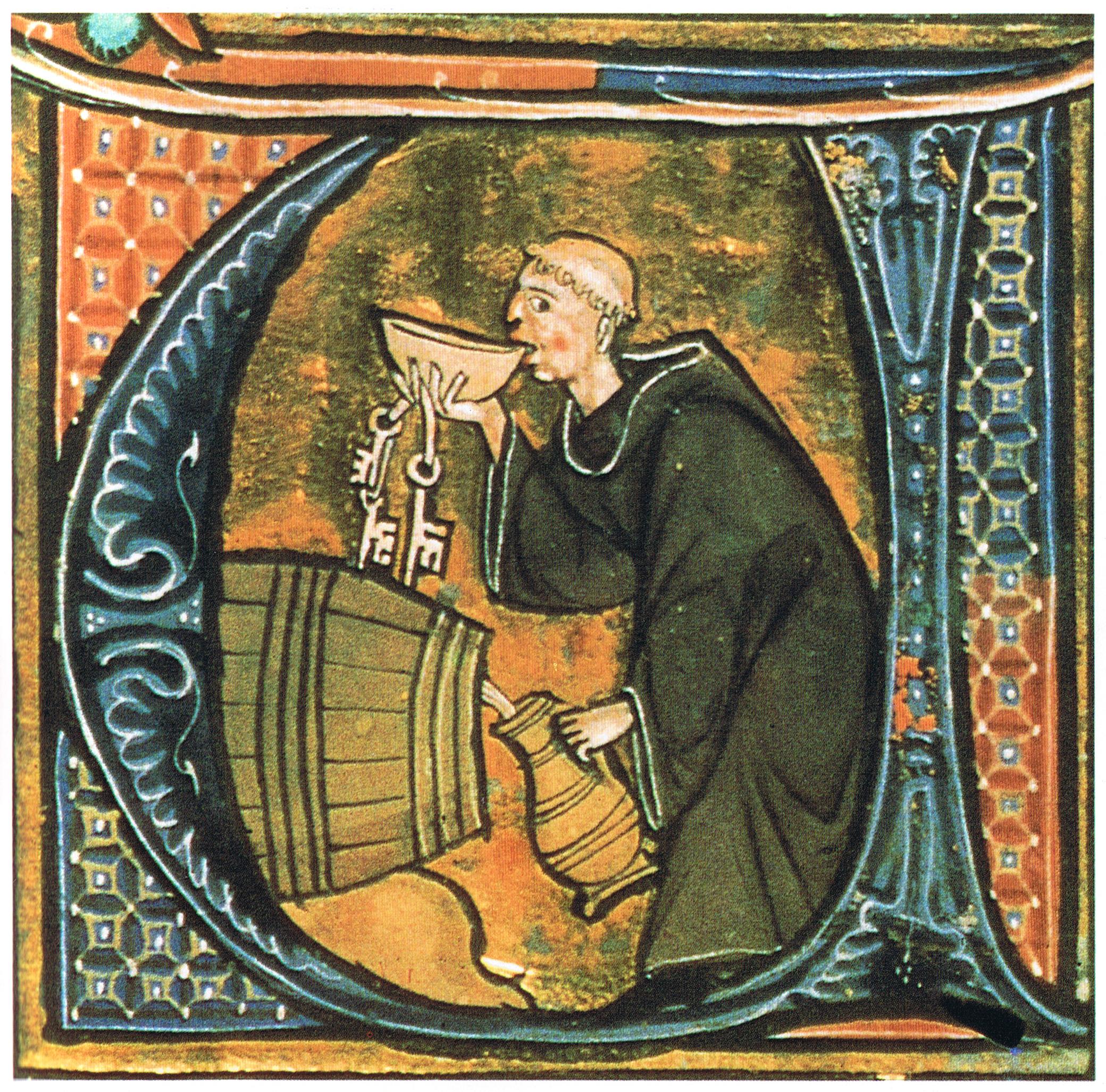Monk_sneaking_a_drink