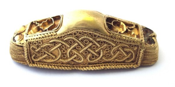 Gilt bronze Anglo-Saxon sword pommel from Aldbrough c600-650A.dc7b8473ff5ccb08dee0502a553ad1ce1066
