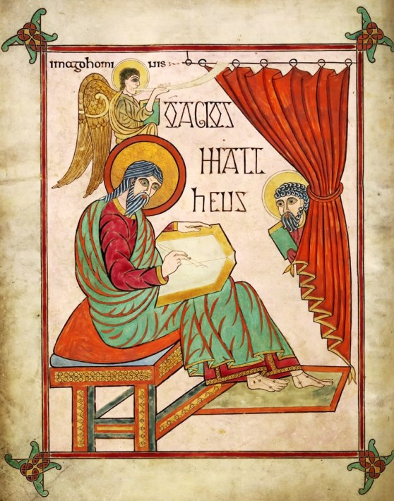 Lindisfarne Gospels - St Matthew f. 25v  British Library Early Anglo-Saxon – Scotland – 7C or 8C